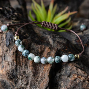 Natural Stone Healing Spiritual Protection Anxiety Stress Relief Bracelet