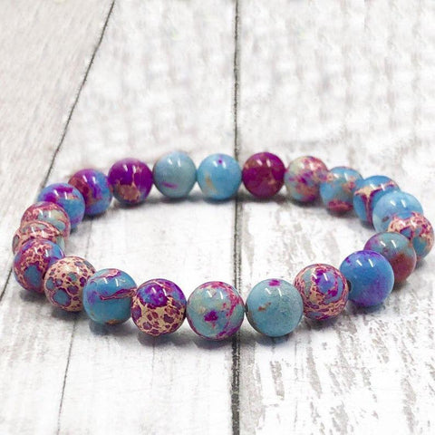Galaxy Sea Sediment Gemstone Healing Bracelet
