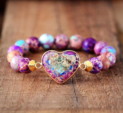 Galaxy Sea Sediment Stone Healing Bracelet