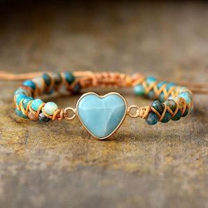 Natural Amazonite Stone Love Bracelet