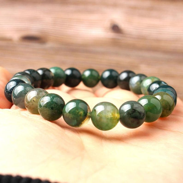 Indian Agate Stone Emotional Healing Strength Bracelet