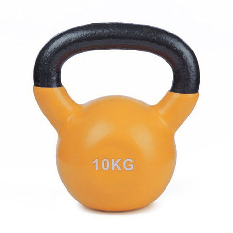 Vinyl Coated Cast Iron Kettlebell - 1 x 10kg - Minor Scratches