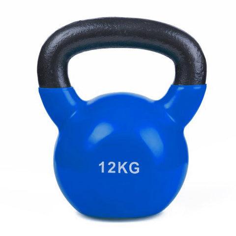 Vinyl Coated Cast Iron Kettlebell - 1 x 12kg - Minor Scratches - Gymzey.com