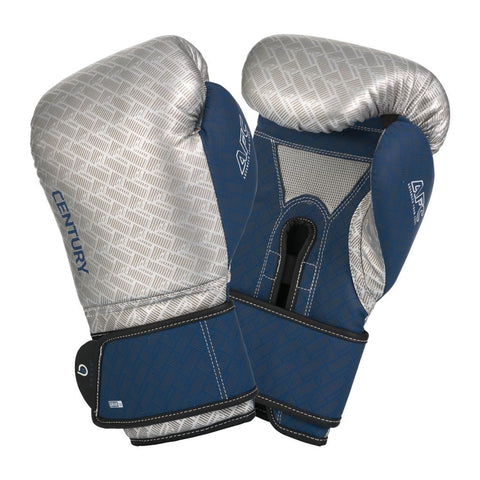 Century Boxing Gloves - Silver/Navy - Gymzey.com