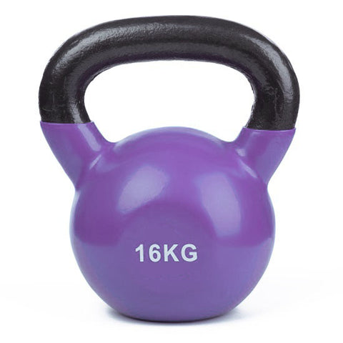 Vinyl Coated Cast Iron Kettlebell - 1 x 16kg - Minor Scratches - Gymzey.com