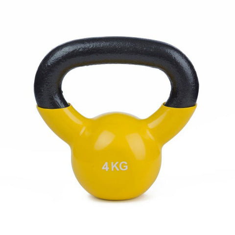 Vinyl Coated Cast Iron Kettlebell - 1 x 4kg - Minor Scratches - Gymzey.com