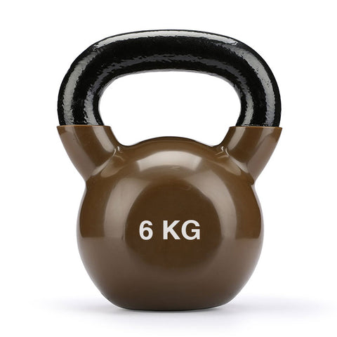 Vinyl Coated Cast Iron Kettlebell - 1 x 6kg
