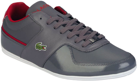 Lacoste Mens Taloire LPP Trainers - Grey/Red - Gymzey.com