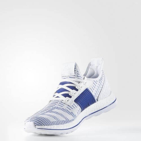 adidas Pure Boost ZG Running Shoes - White Collegiate Royal - gymzey-com