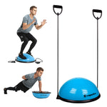 Balance Trainer with Resistance Bands + Foot Pump - Blue - Gymzey.com