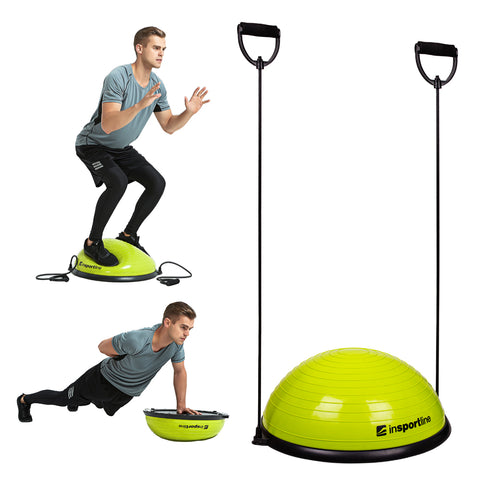 Balance Trainer with Resistance Bands + Foot Pump - Green