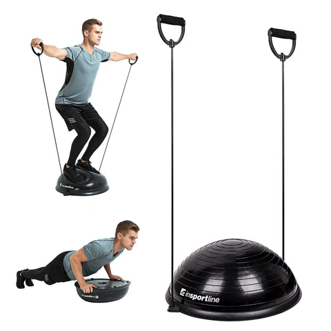 Balance Trainer with Resistance Bands + Foot Pump - Black