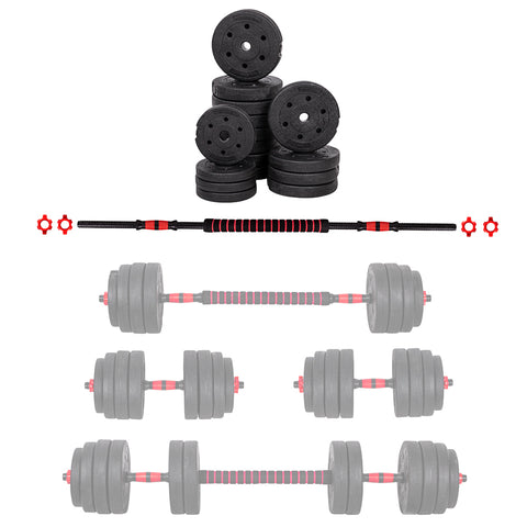 3-in-1 Set of Adjustable Dumbbells 2 x 20kg