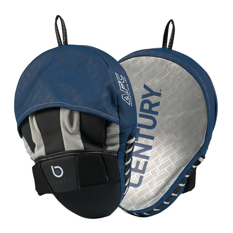 Century Brave Curved Punch Mitts - Silver/Navy - Gymzey.com