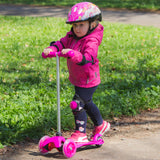 Kids Tri Scooter with Light-Up Wheels (Age 2+) - Green - Gymzey.com