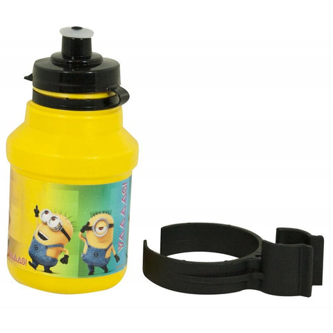 Kids Cycling Bottle Minions 350ml Yellow with Holder - Gymzey.com