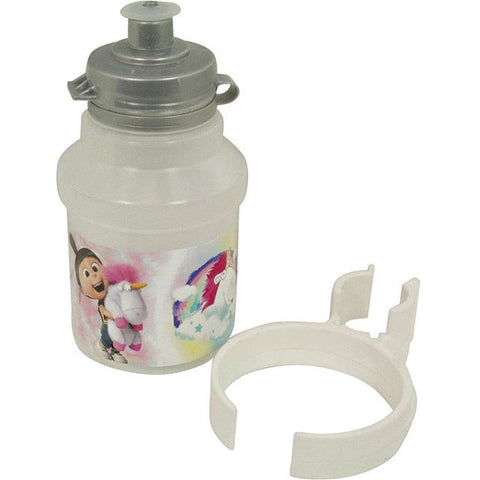Kids Cycling Bottle Minions Fluffy 350ml White with Holder - Gymzey.com