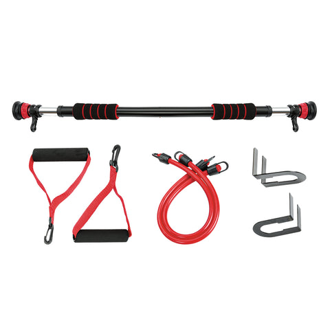 Doorway Pull Up Bar Double Lift with Resistance Bands - Gymzey.com