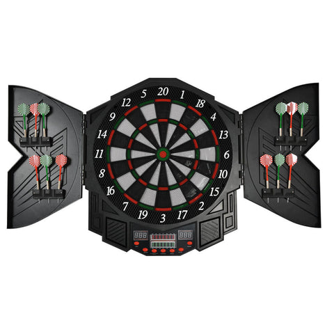 Electronic Pro Dartboard Cabinet WJ300 with 27 Games - Gymzey.com