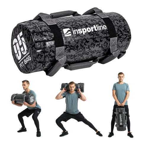 Exercise Fitness Multifunctional Bag with 7 Handles Camo 5kg