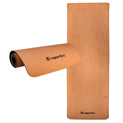 Exercise Mat Corkam, made from natural eco Cork, with shoulder strap, 5.6ft - Gymzey.com