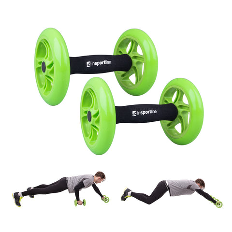 Exercise Wheels Pair AB Roller Double with an Anti-slip Grip - Gymzey.com