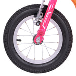 "Portable Kick Scooter with 12"" Wheels - Pink-Orange - Gymzey.com"