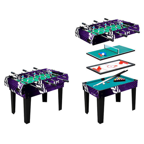4-in-1 Multi Game Table with Foosball, Billiard, Ping Pong, Hockey - Gymzey.com