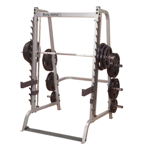 7 Angle Body-Solid Smith Multi-Press Machine with Free-weight Barbell - Gymzey.com