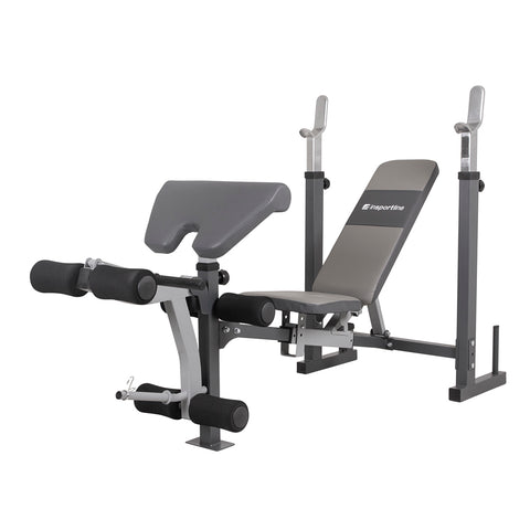 Multi-Purpose Bench Hero B100 with adjustable backrest, leg and biceps curl pad