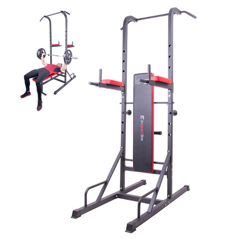 Multi-Purpose Steel Dip / Abs Station with a Workout Bench - Gymzey.com