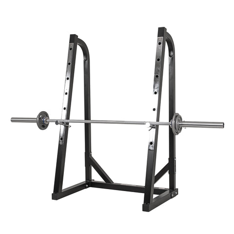 Steel Power Squat Rack with 7 Positions and Chrome Stoppers - Gymzey.com