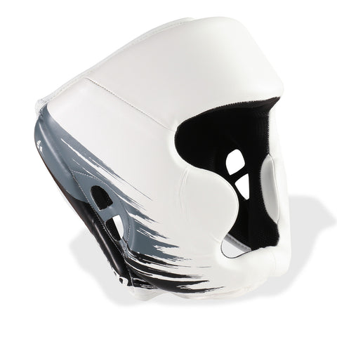 PunchTown Kranion Head Guard - White/Black/Grey - Gymzey.com
