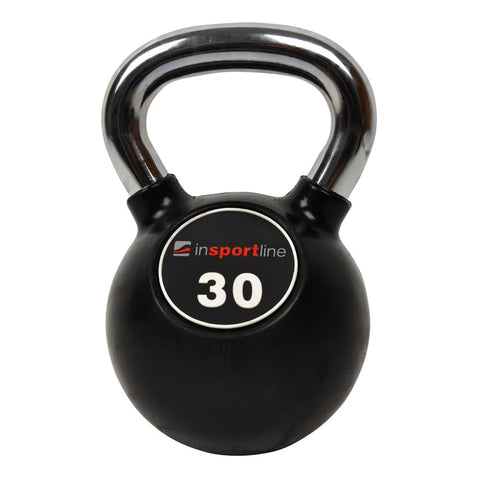 Premium Rubber-Coated Steel Kettlebell with a Chromed Grip - 30kg - Gymzey.com