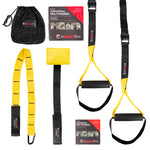 Suspension Multi-Trainer for Arms and Legs & Exercise Manual - Yellow - Gymzey.com