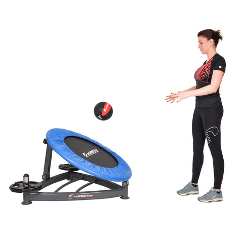 Medicine Ball Rebounder Trampoline with 8 Positions, Suitable for Plyometric Exercises