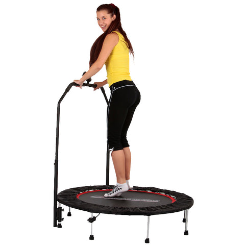 Trampoline with Handlebar and Digital Jump Counter 122cm