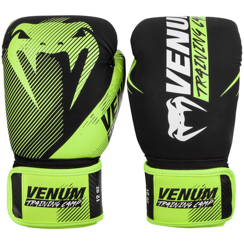 Venum Training Camp 2.0 Boxing Gloves - Black/Neo Yellow - Gymzey.com