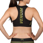 Venum Womens Power 2.0 Sports Bra - Khaki/Black - Gymzey.com