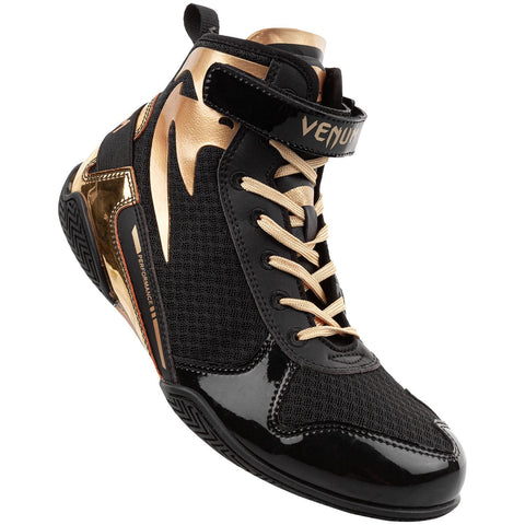 Venum Giant Low Boxing Shoes - Black/Gold - Gymzey.com
