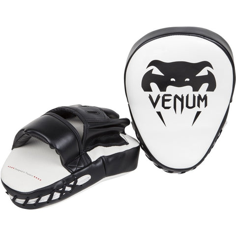 Venum Light Adult Focus Mitts - Black/White - Gymzey.com