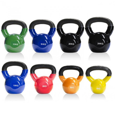 Vinyl Coated Cast Iron Kettlebell - 32kg (single) - Gymzey.com