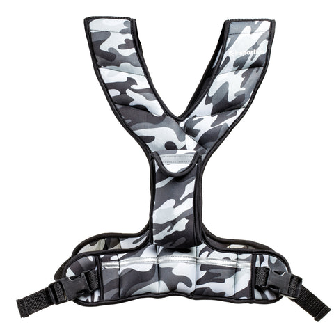 Weighted Vest with Pocket FitUp 4kg - Camo Grey - Gymzey.com