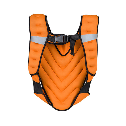 Weighted Vest 5kg, Sand Filled with Wide Straps and Pocket - Orange - Gymzey.com