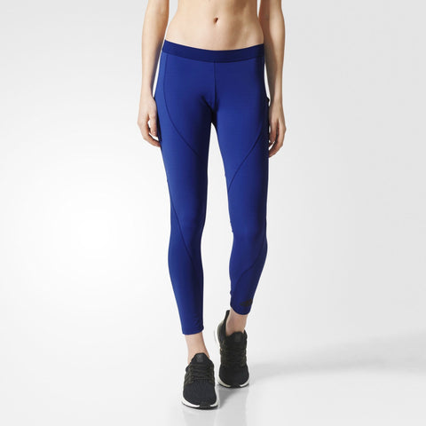 adidas Women's Core Climachill Tights - Blue - Gymzey.com
