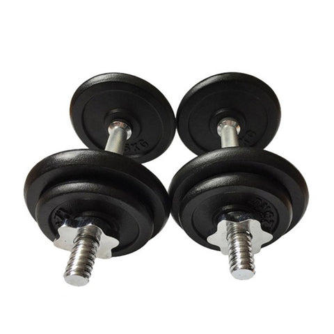 Adjustable Dumbbells Set 2 x 10kg (20kg total) Chrome Handle, Star Collars