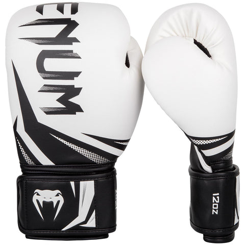 Venum Challenger 3.0 Boxing Gloves - White/Black - Gymzey.com