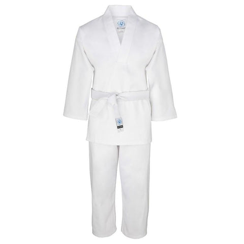 Bytomic White V-neck Uniform with Belt - gymzey-com