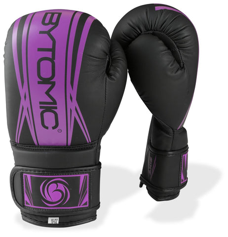 Axis Ladies Boxing Gloves - Black/Purple - Gymzey.com