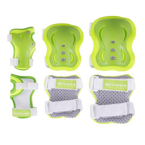 Cycling Elbows and Knees Pads Set - Green - Gymzey.com